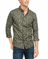 Levi's Mens Shirt Green Size Medium M Button Down Leopard Print Pocket $54 #119