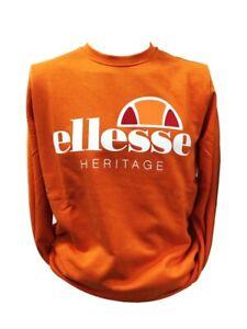 ELLESSE Sweatshirt Crew Neck Fleece Orange 792007-702