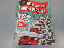 Ford 600 & 800 Series Tractor Brochure   1954         lw