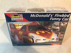 VINTAGE 1/25 SCALE REVELL MCDONALD'S FIREBIRD FUNNY CAR SEALED MODEL KIT