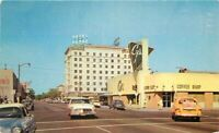 Autos Downtown Cy's Downtowner Hotel Padre Bakersfield California Postcard 4891