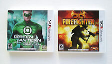 Green Lantern Rise of Manhunters + Firefighter 3D  Nintendo 3DS  NEW  A2