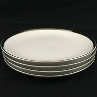"Set of 4 VTG Bread Plates 6"" by Sango Fine China Pallas Platinum Trim Japan"