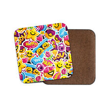 Happy Emoji Coaster - Cute Teen Mobile Phone Girls Daughter Sister Gift #14745