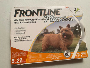 FRONTLINE Plus for Small Dogs 5-22 lbs. Orange Box 3 Month Supply - EPA Approved
