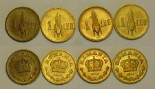 Roumanie Romanie SET 1 Leu 1938 - 1939 - 1940 - 1941 NEUF / UNC