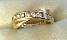 Stunning Ladies Full Hallmarked 14Ct Gold White Stone Ring - Beautiful Ring