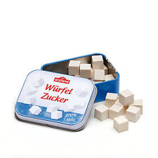 Wooden pretend role play food (Erzi) play kitchen, shop: Sugar Cubes in a tin