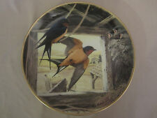 "BARN SWALLOW ""RETURNING HOME"" collector plate ANTHONY RUDISILL Birds Countryside"