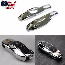 Remote Key Chrome Silver Shell Holder Cover Porsche Cayenne Panamera Macan 911