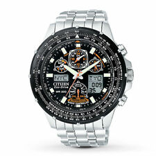 Citizen Men's Eco-Drive Skyhawk Atomic Stainless Steel Bracelet Watch JY0000-53E