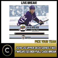2019-20 UPPER DECK SERIES 2 HOCKEY 12 BOX FULL CASE BREAK #H740 - PICK YOUR TEAM