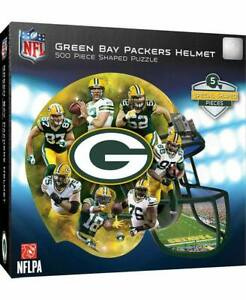 Green Bay Packers NFL Helmet-Shaped 500-Pc. Puzzle Football Team  & Logo NEW!