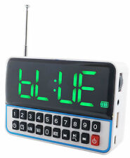 RADIO SVEGLIA CASSA SPEAKER OROLOGIO DIGITALE USB MICRO SD MP3 MULTIMEDIA WS1513