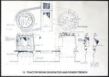 STAR WARS REPRO 1976 TRACTOR BEAM GENERATOR BLUEPRINT PLAN DRAWING POSTER . BP15