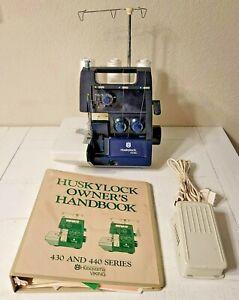 Husqvarna Viking Huskylock 435C Serger Sewing Machine w/ Foot Pedal