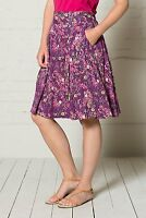 NOMADS Bright Floral Floaty Flared Cotton Summer Skirt Knee Length  Fair Trade