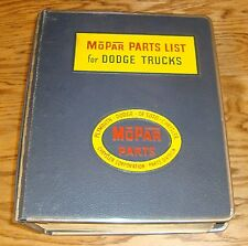 Original 1957 1958 Dodge Truck K & L Series Mopar Parts List Catalog 57 58