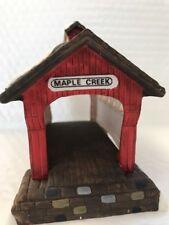 Dept 56 Heritage Village Accessory - RED COVERED BRIDGE - in box