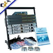 Cisco CCNA Security, 3 1841 Router, 3 2960 Switch & ASA Lab Kit *Rack & 1 Yr Wty