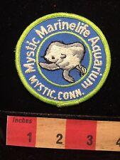 Vtg Mystic Marinelife Aquarium Connecticut Patch Marine Life Dolphin 65E5