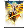 """Hot Japan Anime Game Overwatch Mercy Home Decor Poster Wall Scroll 8""""x12"""" P59"""