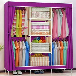 Wardrobe Foldable Closet Practical Non-woven Fabric Dustproof Storage Organizer