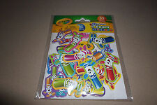 Pack Of 35 Crayola Pip-Squeaks Foam Stickers~Peel & Stick Backing, Ages 4+, New!