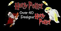 HARRY POTTER MACHINE EMBROIDERY DESIGNS, OVER 75 DESIGNS PES HUS DST JEF FORMATS