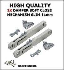 Soft Close Mechanism Damper For All Roller Runners And Metal Box Drawers 2 PACK