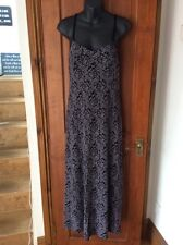 Sexy Black & Taupe Lace Design Long Strappy Dress One Size