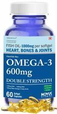 Carbamide Forte Fish Oil 1000 mg per Softgel Omega-3 600mg 60 Softgels Free Ship