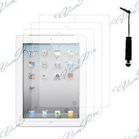 3x Films protection protecteur écran mini stylet  IPAD 2 3 4 Nouvel ipad Retina