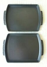 "Set of 2 Staub Enamel Cast Iron Cookware Rectangular Baker Matte Black 10""x8""x1"""