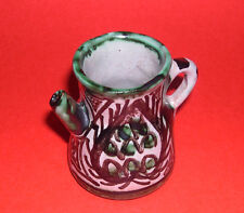 Punter Art Pottery Spain - Attractive Miniature Pitcher - Abstract Hand Painted
