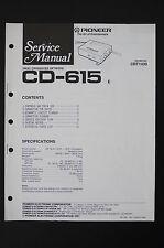 PIONEER CD-615 Original Crossover Network Service Manual/Wiring Diagram/Diagram