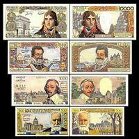 2x 500,1000, 5000,10000 Nouveaux Francs - Issue 1953 - 1958 - Reproduction - 06