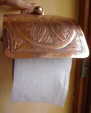 Moroccan COPPER hand ENGRAVED wall mounted toilet roll holder