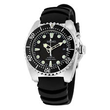 Seiko Kinetic Dive Black Dial Black Rubber Mens Sports Watch SKA371P2