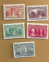 SCOTT #  245, 244, 243, 242, 241   HIGH VALUES    BEST COPIES I HAVE EVER SEEN