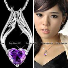 ALI D'ANGELO Purple Heart Collana grande ciondolo argento bigiotteria regali di Natale A1