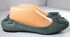 Tory Burch Leather Ballet Flats Womens Reva Stingray Size 10 M