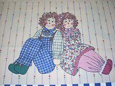 VTG Raggedy Ann & Andy Fabric Panels