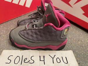 Nike Air Jordan 13 XIII Retro TD Wolf Grey Pink 414581-029 Size 7c With Box