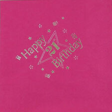 Luxury 3 Ply Napkins - Fuschia - 21st Birthday