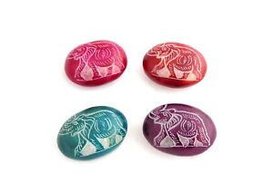Oval Elephant Soapstone, Fair Trade Gift, Small Ornament, Stocking Filler