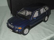 Z464 KYOSHO BMW X5 3.0 D BLEU METALLISE BLUE 1/18° TBE BOITE
