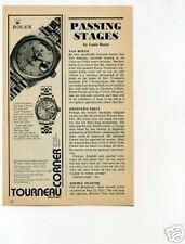 Rolex Wristwatches Tourneau Corner Original Vintage Ad