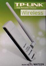 Wlan adaptateur usb 150mb tp-link tl-wn722n amovible antenne wi-fi 802.11b/n/g