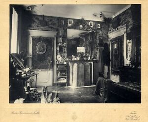 Turin Italy Interior of a noble house 1900c Studio Lovazzano Gelatin silver phot